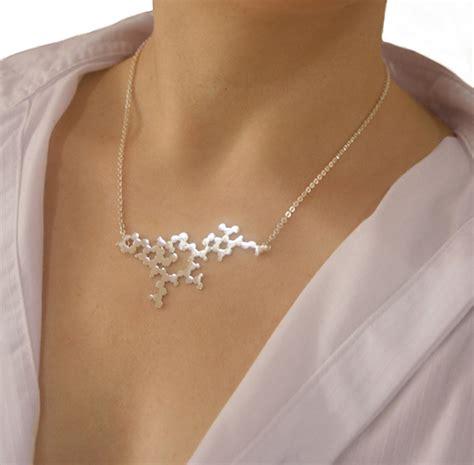 oxytocin silver pendant model molecule jewellery