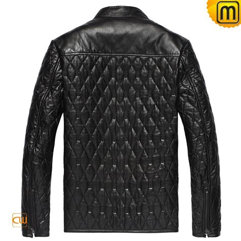 Black Quilted Jacket by S Black Quilted Leather Jacket Cw821001