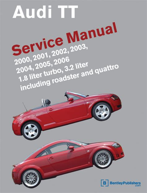 front cover audi audi repair manual tt 2000 2006 bentley publishers repair manuals and