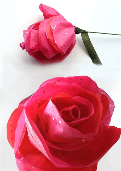 Tissue Paper Roses How To Make - how to make simple tissue paper roses flowers