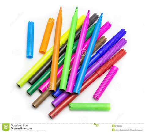 colorful pens colorful pens royalty free stock image cartoondealer