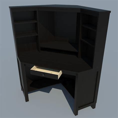 3d Model Low Poly Corner Computer Desk Vr Ar Low Poly Low Computer Desk