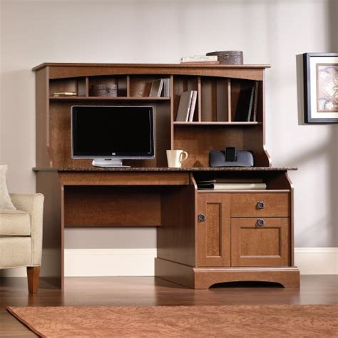 Sauder Graham Hill Computer Desk With Hutch Autumn Maple Sauder Graham Hill Computer Desk With Hutch In Autumn Maple Finish Office