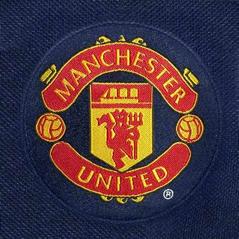 manchester united f c official manchester united fc official football gift mens crest polo shirt