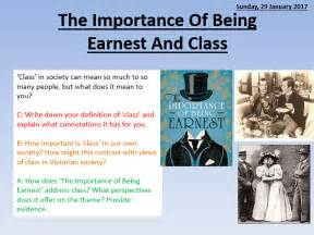 themes the importance of being earnest the importance of being earnest and class by lead