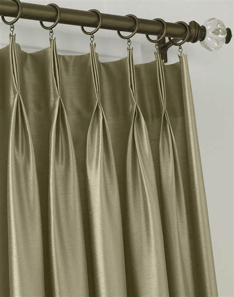 pinch pleat silk drapes marquee faux silk pinch pleat drapery curtainworks com