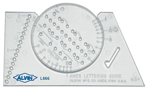 Lettering Guide Template alvin ames lettering guide lettering template stencil