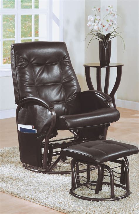 Leather Rocker Recliner Swivel Chair by Monarch Specialties Recliner Swivel Rocker Ivory