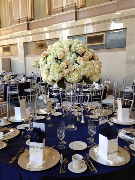 blue and white table navy blue and white wedding table decorations