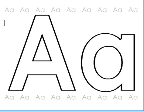 coloring page letter aa abc printables