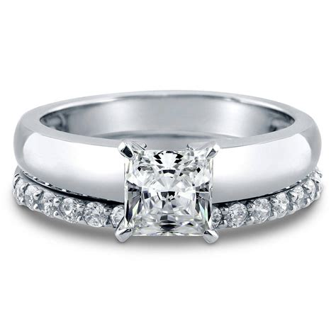 berricle sterling silver princess cz solitaire engagement