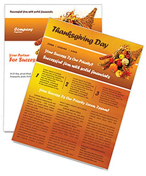 free november newsletter templates thanksgiving newsletter template design id 0000000721