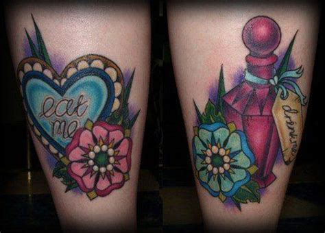 alice in wonderland tattoo inspiration on girly tattoos