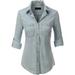 light blue button up shirt womens best 25 denim shirts ideas on s