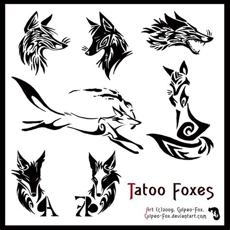 tribal fox tattoo designs fox tribal pictures to pin on
