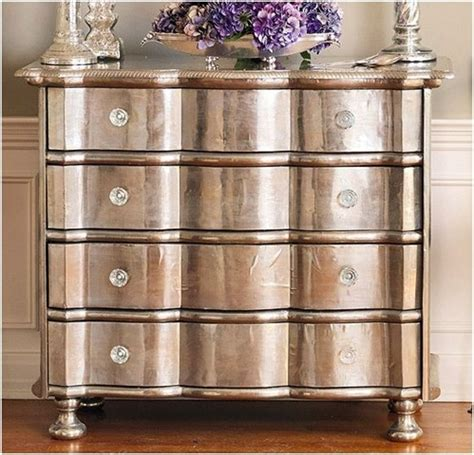 Small Spaces Furniture upcycled furniture using metallic finishes dig this design