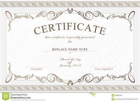 certificate layout vector certificate border certificate template vector
