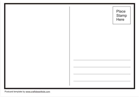 blank postcard template blank postcards template