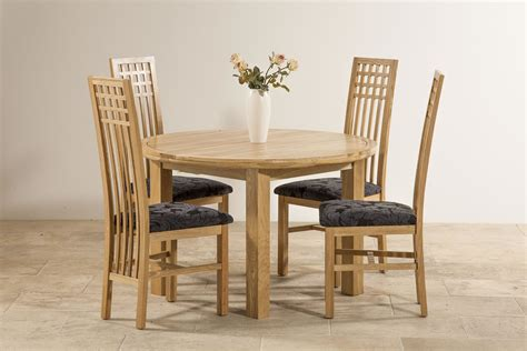 Solid Oak Extending Dining Table And 4 Chairs Knightsbridge 5ft 3 Quot Solid Oak Extending Dining Table 4 Lattice Back