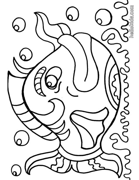 fish coloring pages free large images