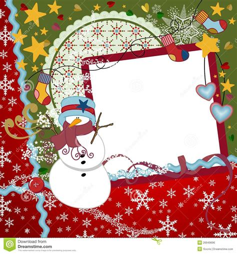 christmas scrapbook layout royalty  stock image