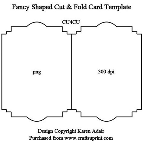 Fancy Shaped Cut Fold Card Template On Craftsuprint Designed By Karen Adair This Fancy Shaped Card Cut Out Template