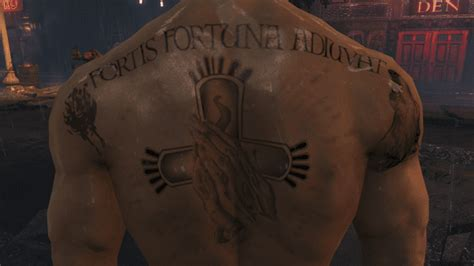 john wick back tattoo language the john wick mod at fallout 4 nexus mods and community