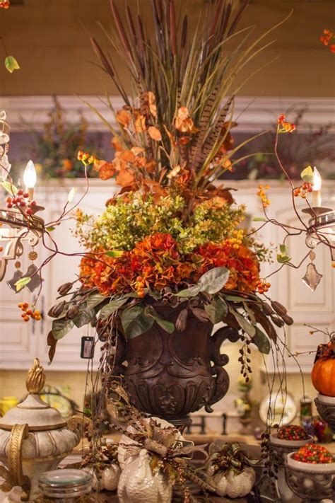 create a statement with a handcrafted fall silk flower - Unique Fall Decorations