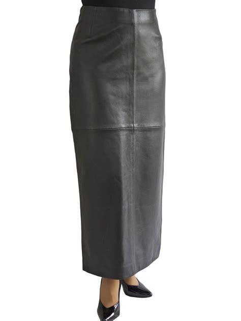 black leather maxi skirt tout ensemble