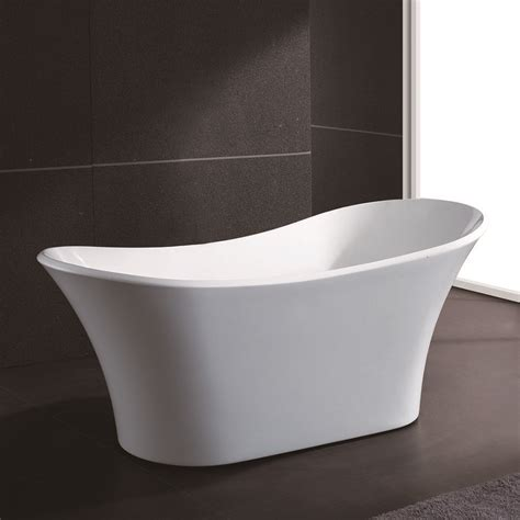 new soaking bathtub acrylic white pedestal bath tub