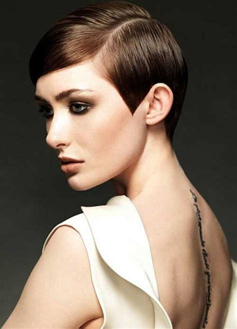 pixie cut with center part trendy womens short haircuts you want to try short