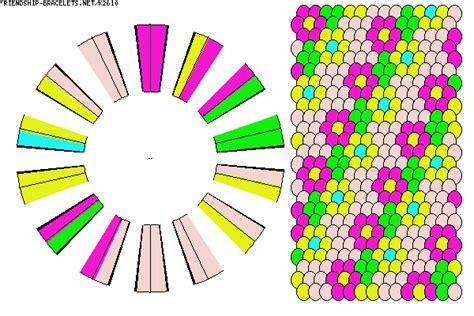 flower friendship bracelet pattern
