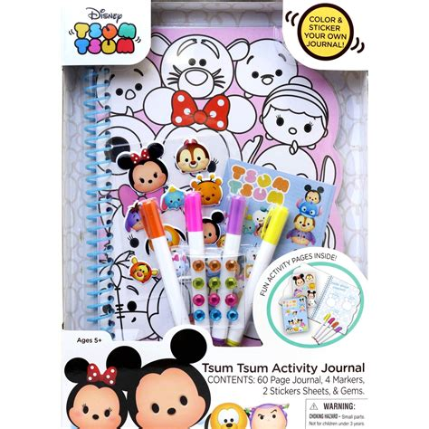 Tsum Tsum Weekly Journal disney tsum tsum activity journal coloring sticker book drawing coloring baby toys