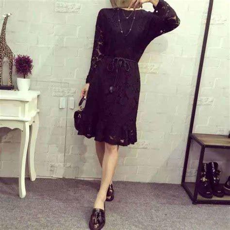 Dress Motif Bunga Warna Hitam dress hitam motif bunga brokat 2016 jual model terbaru