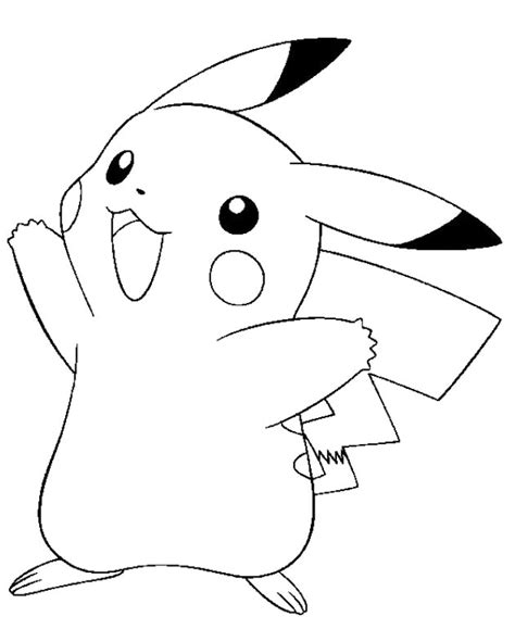 coloring pages of pokemon pikachu pikachu pokemon coloring pages getcoloringpages com