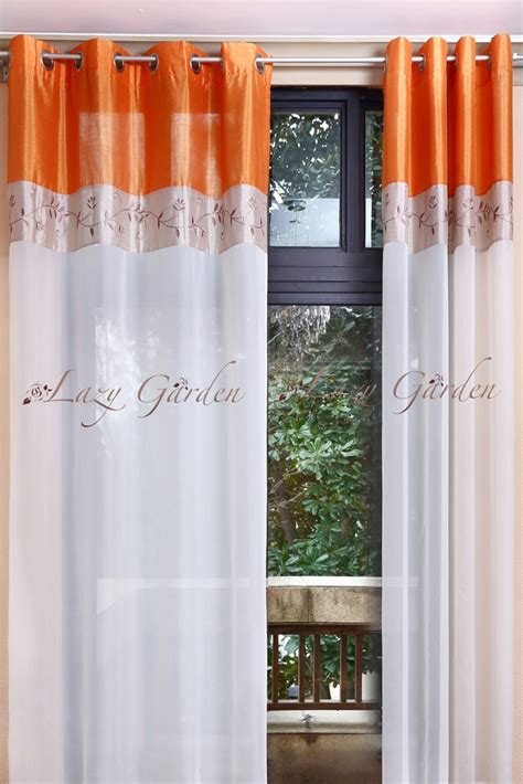 shipping eyelet embroidery voile window curtains