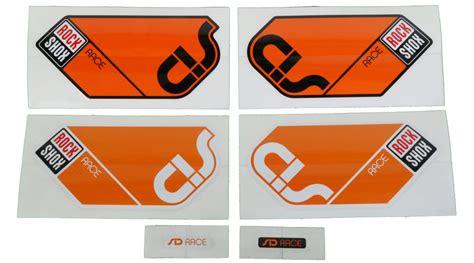 Rock Shox Aufkleber Orange by Rock Shox Federgabel Aufkleber Decals G 252 Nstig Kaufen