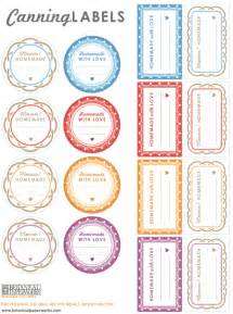 Canning Jar Labels Template by Free Printables Canning Labels For Your Goodies