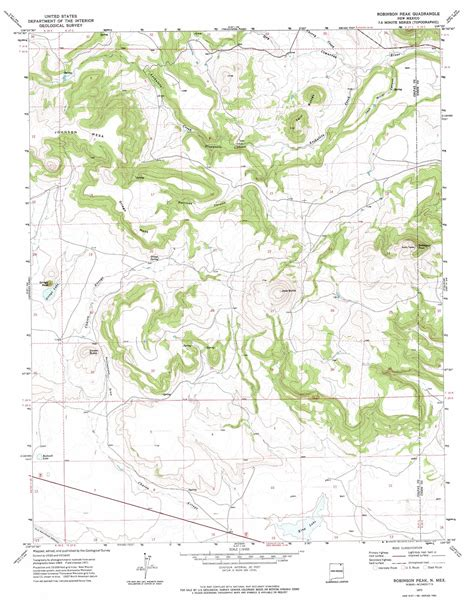 robinson map robinson peak topographic map nm usgs topo 36104g1