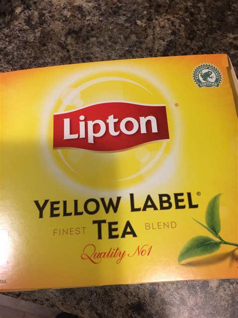 Teh Lipton Yellow Label lipton yellow label tea bags reviews in tea familyrated