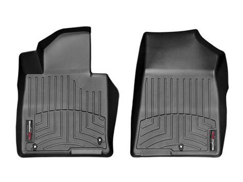 weathertech floor mats floorliner for kia optima 2016 2017 1st row black