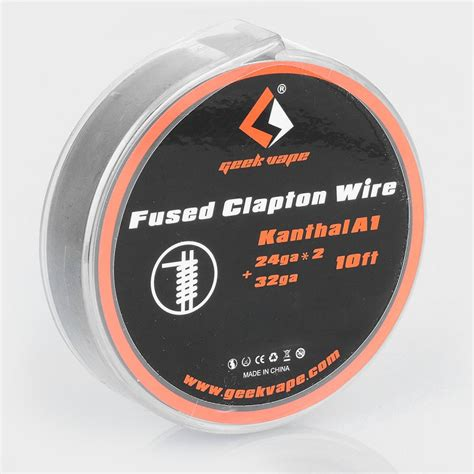 Khantal A1 24ga 15ft By Geekvape authentic geekvape kanthal a1 fused clapton 3m heating wire