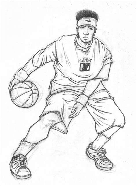 draw template for sport 21 fantastic basketball drawings to free
