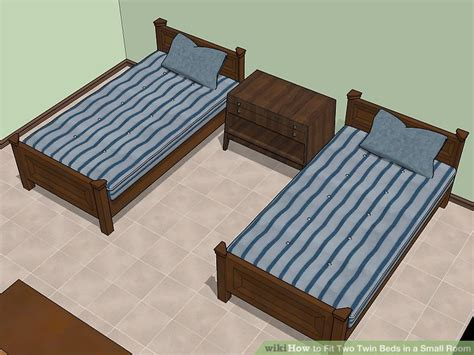 Two Beds In A Small Room by How To Fit Two Beds In A Small Room Wikihow