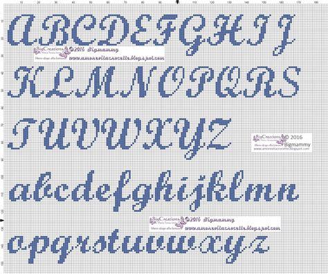 lettere corsive punto croce amorevitacrocette vari alfabeti a punto croce