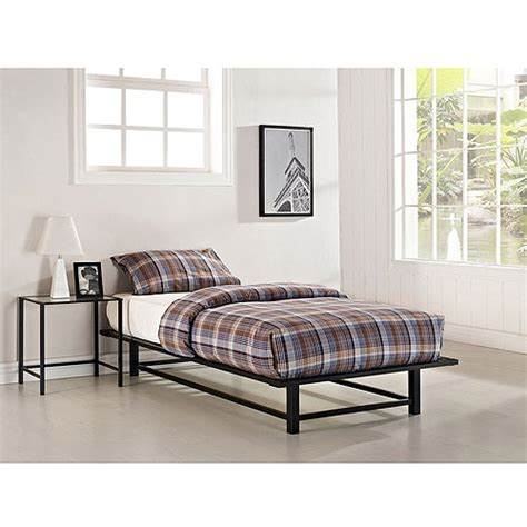 Parsons Twin Metal Ledge Platform Bed And Nightstand Set Parsons Bed Frame