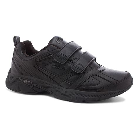 wide shoes fila mens capture 2 black comfort running walking 4e