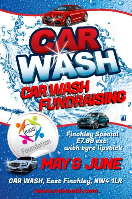 Car Wash Flyer Template Postermywall Car Wash Poster Template