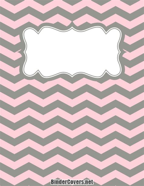 printable chevron binder covers printable pink and gray chevron binder cover