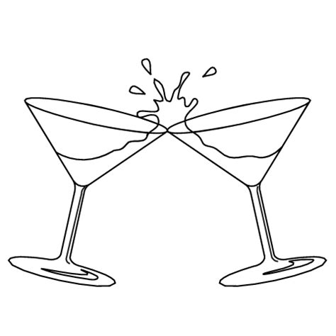 cocktail clipart black and white food and drink clip art totally promotional 25624